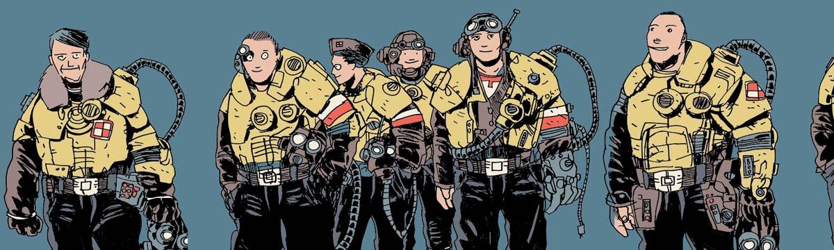 dywizjon 303, podsumowanie, jan hardy, komiks, mural, projekt, rysunek, komiks, komix