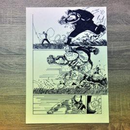 Oryginalna plansza Ognik Cichociemny Hardybohater